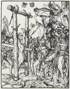Fine Art Print-Martyrdom of St. Creator: Lucas Cranach (German, Fine Art Print on Paper made in the UK Martin Luther, Medieval, Lucas Cranach, Classic Image, Historical Maps, Vintage Wall Art, Woodblock Print, Heritage Image, Metropolitan Museum