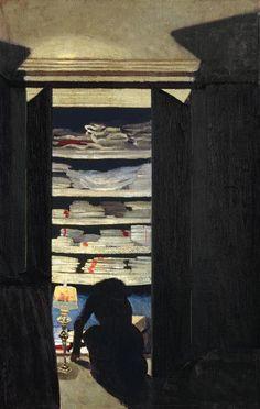 Félix Vallotton, Femme fouillant dans un placard, 1901, huile sur toile, 78 x 40 cm. Collection particulière ©