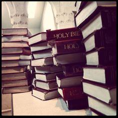 Fixing the church bibles...