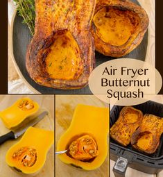Air  Fryer Butternut Squash is a lovely side dish or main dish with the  flesh of the squash nicely browned, the squash meat soft and tender, all  in a fraction of the time that it would take to roast it in the oven.