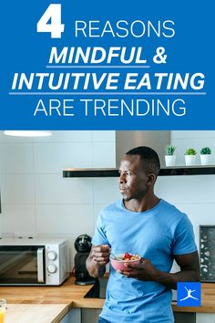 """Mindful eating is focused on how you eat in the moment, minimizing distractions and using your senses. Intuitive eating encourages people to eat according to hunger and fullness cues, stop dieting once and for all and let go of ideas about """"good"""" and """"bad"""" foods. We're talking about body acceptance, health at every size, mindful eating and intuitive eating. People are increasingly questioning fad diets and learning to adopt sustainable healthy habits instead. Nutrition And Dietetics, Nutrition Guide, Health And Nutrition, Health And Wellness, Health Fitness, Low Sugar Diet, Clean Eating Challenge, Bad Food, Fad Diets"""