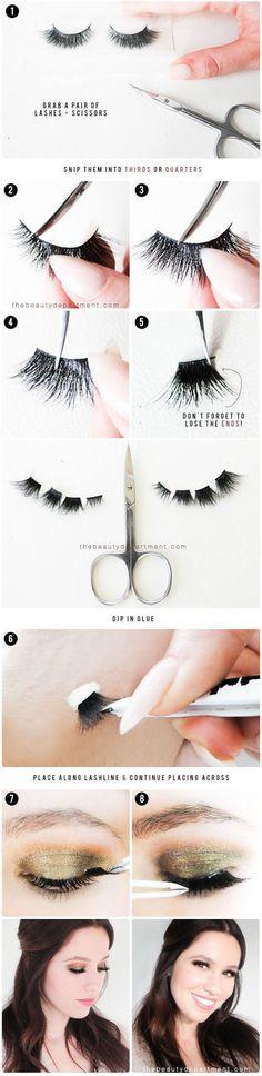 Lash Strip Trick - #lashstrip #lashes #eyelashes #diylashes