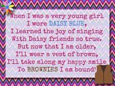Girl Scouts: Bridging to Brownies - Brownie Box Label