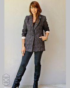 winter jacket wool coat / jacquard plaid by FiregypsyVintage, $54.95