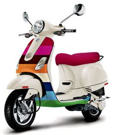 Vespa - I want one. Oh and to live in Tuscany and wear dresses and ride around on this with my significant other