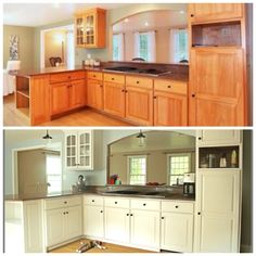Another beautiful kitchen redo thanks to Rust-Oleum Cabinet ...