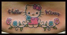 Free tattoo photo gallery, tattoo shops, tattoo designs, samples, and everything else you need to find the right tattoo. Ankle Tattoos, Girly Tattoos, Tatoos, S Tattoo, Tattoo Shop, Hello Kitty Tattoos, Blossom Tattoo, Hello Kitty Collection, Tattoo Designs