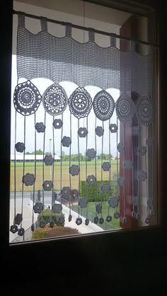 The post . appeared first on Gardinen ideen. The post .gardine appeared first on Gardinen ideen. Filet Crochet, Crochet Motif, Crochet Doilies, Crochet Flowers, Knit Crochet, Crochet Patterns, Crochet Ideas, Crochet Curtain Pattern, Crochet Curtains