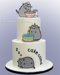 🍰Вдохновение Потрясающая аккуратность и невероятное мастерство в тортах от  @tatyana_kitina Листайте➡️ Как вам? Нравится? Pretty Cakes, Beautiful Cakes, Amazing Cakes, Cupcake Recipes, Cupcake Cakes, Cupcakes, Pusheen Cakes, Pusheen Birthday, Elvis Presley Cake