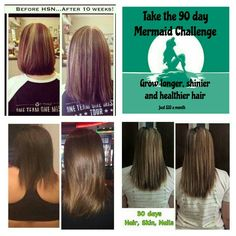 Want longer, shinier & healthier hair?! Take our 90 day mermaid challenge!!! Only $33 a month! Contact me at bettyevansharris.myitworks.com  or bettyandpatrick @yahoo.com (put it works in comment section)
