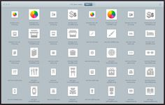 All icons are previewed after dropping the Photoshop file into the Layer Cake window