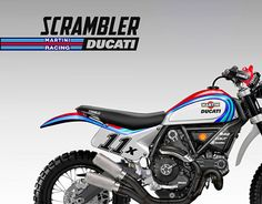 "Check out new work on my @Behance portfolio: ""DUCATI SCRAMBLER ""BAJA MARTINI RACING"""" http://on.be.net/1HvNwai"