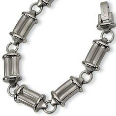 Chisel Brushed and Polished Titanium Bracelet - 9 Inches Chisel. $86.99