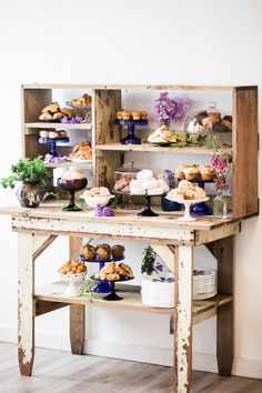 Brunch buffet inspiration with Jenny Cookies, flowers by Country Bouquets Floral