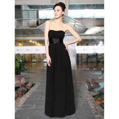 Ankle-Length Strapless Ruched Bust Dress