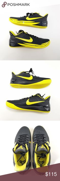 info for 6ff83 e3bed Nike Kobe A.D Oregon Ducks BlackYellow Mens Sz 18 Brand New Without The  Box. Black and Yellow Kobe A.D Nike Basketball Shoes, Oregon Ducks Sz 18 Nike  Shoes ...