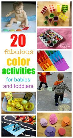 Fantastic, fun color activities for babies and toddlers (entrar en la página… Toddler Play, Toddler Learning, Toddler Preschool, Baby Play, Toddler Crafts, Fun Learning, Learning Activities, Color Activities, Craft Activities For Kids