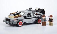 Marty & Doc with Delorean Lego Cars, Lego Tv, Great Scott, Micro Lego, Bttf, Cartoon Fan, Lego Military, Legoland, Lego Marvel