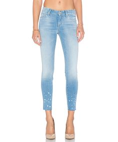 MOTHER The Looker Ankle Fray Wash Pretty Little Words In A Bottle Jeans'. #mother #cloth #jeans