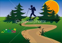 Hiking Stock Photos, Illustrations and Vector Art | Depositphotos®