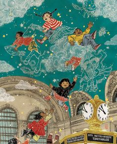 New York City Subway Poster Grand Central Station Yuko Shimizu Art And Illustration, Illustrations And Posters, Yuko Shimizu, School Murals, School Of Visual Arts, Art Inspo, Concept Art, Art Drawings, Artsy