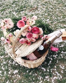 Summer Picnic - Al fresco Dining - Outdoors - Champagne and Roses - Summer Living Picnic Date, Summer Picnic, Beach Picnic, Summer Bucket, Photo Chateau, Romantic Picnics, Pretty In Pink, Beautiful Flowers, Summertime