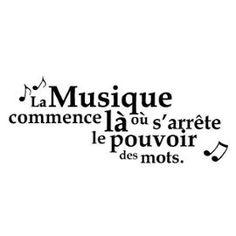 Stickers Citation Musique 45.00 X 22.50 Cm
