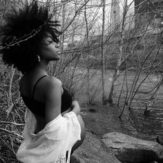The beauty @lorabeloved ||   Dark Bella. Mother Nature. Natural hair.