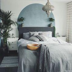 Chambre en camaïeu de gris, ambiance orientale