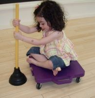 Several activities that encourage crossing midline and trunk rotation.