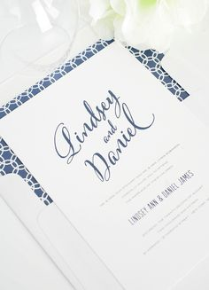Modern Script Wedding Invitations in Navy Blue | #shineweddinginvitations http://www.shineweddinginvitations.com/blog/modern-script-wedding-invitations-navy-blue/