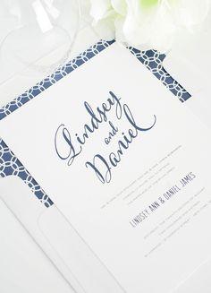 Modern Script Wedding Invitations in Navy Blue  http://www.shineweddinginvitations.com/wedding-invitations/modern-script-wedding-invitation