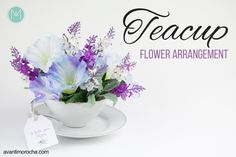 DIY Teacup Flower Arrangement