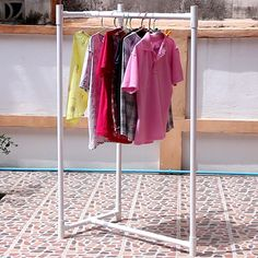 Pvc Pipe Crafts, Pvc Pipe Projects, Diy Crafts For Home Decor, Diy Crafts Hacks, Diy Clothes Rack Pvc, Pvc Shoe Racks, Portable Clothes Rack, Hanging Clothes Racks, Pvc Furniture