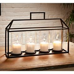 A stylish Framed Candle Holder, perfect for adding character to your home. Fabulous glass casing enhances your candle's shimmering light - B&M Stores.