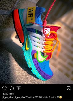 Best Sneakers, Air Max Sneakers, Shoes Sneakers, Off White Presto, Sneaker Art, Latest Shoe Trends, Fresh Shoes, Colorful Shoes, Nike Outfits
