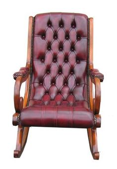 Rocking chair chesterfield, Fauteuil Chesterfield TECHNI SALONS