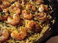 A Couple in the Kitchen: Shrimp Orzo Skillet