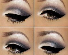 Makeup Lovers Unite! #winged smokey charcoal eye #makeup