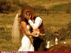 groom in cowboy hat - Google Search There's a keeper