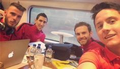 On the way to London... Come on you Reds ♥