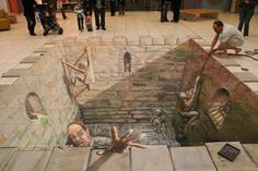 Chalk art is SOOO crazy and fun