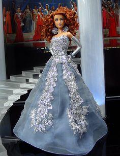 Miss North Carolina 2011- Vestido inspirado por el diseñador de moda libanés Zuhair Murad Spring-summer 2010