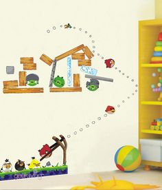 Angry Birds Wall Sticker For Kids Room