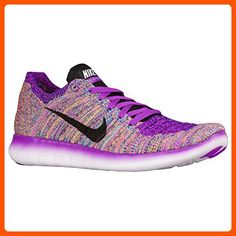 Nike Women's Free Running Motion Flyknit Shoes, Hyper Violet/Gamma Blue /Concord/