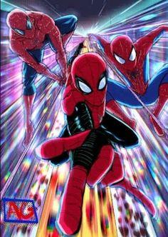 New Spiderman Movie, Comics Spiderman, Black Spiderman, Amazing Spiderman, Batman, Marvel Art, Marvel Heroes, Marvel Characters, Siper Man