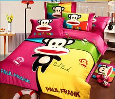 2014 Best Kids Cotton Bedding Sets 4pcs Cartoon Bedding set Cotton include Duvet Cover Bed sheet Pillowcase Disney Bedding, Cotton Bedding Sets, Paul Frank, Bed Sheets, Cool Kids, Comforters, Duvet Covers, Pillow Cases, Cartoon