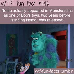 Nemo in Monsters Inc - Movies facts  MORE OF WTF-FUN-FACTS are coming HERE  movies, disney, and weird factsONLY
