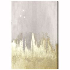 Found it at AllModern - Offwhite Starry Night Painting Print on Wrapped Canvas