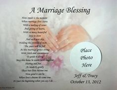 Marriage Blessing Personalized Poem Bride Groom Wedding Gift Idea Ebay